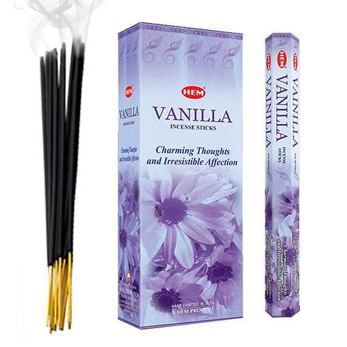 Vanilla Incense Sticks - Hex 20 pack