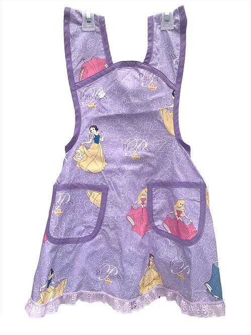 Purple Disney Princess Apron - Child sz 7/8