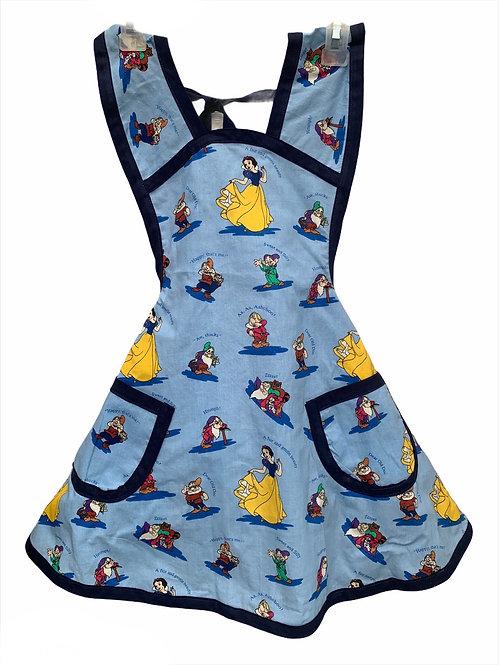 Blue Snow White Apron - Child sz 7/8