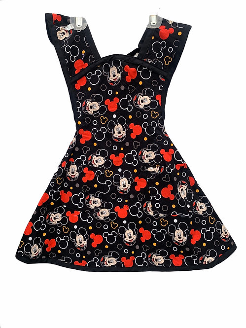 Black Mickey Mouse Apron - Child sz 5/6