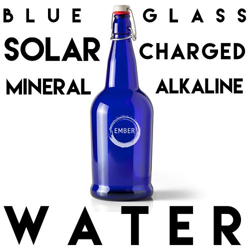 Mineral Filtered Alkaline Blue Solar Charged Water - 1 Litre