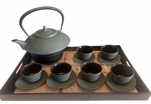 Cast Iron Tea Set - Dragonfly