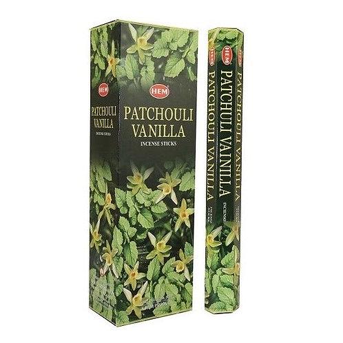 Patchouli Vanilla Incense Sticks - Hex 20 pack