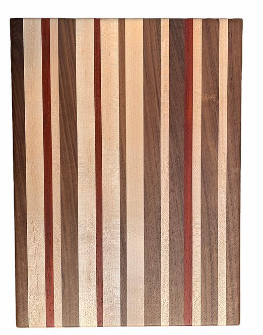 Wooden Cutting Board - Walnut, Maple & Padauk