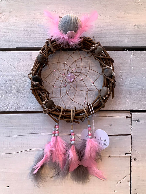 Dreamcatcher - Pink & Grey