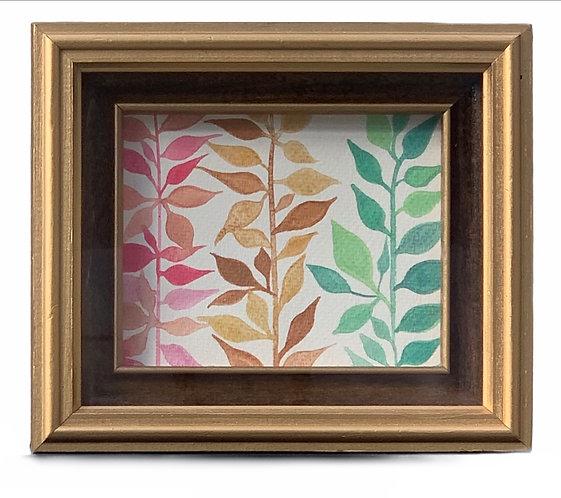 Watercolour mini - Gold Vintage Frame