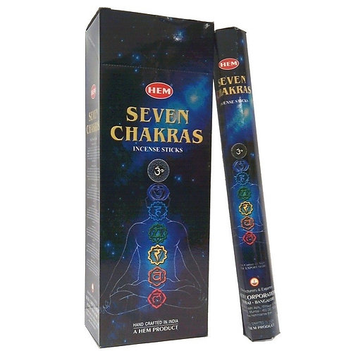 Seven Chakras Incense Sticks - Hex 20 pack