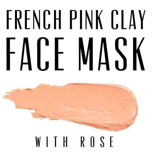 Pink Clay and Rose Face Mask 35g