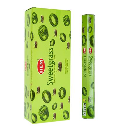 Sweetgrass Incense Sticks - Hex 20 pack