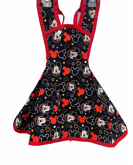 Black/Red Mickey Mouse Apron - Child sz 3/4