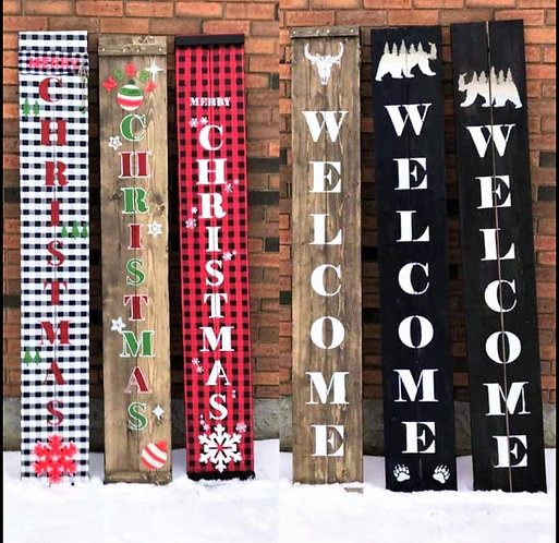 6'X3' Handcrafted Reversible Welcome Signs