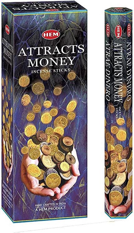 Attracts Money Incense Sticks - Hex 20 pack