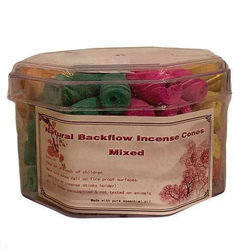Natural Backflow Incense Cones - 70 pack