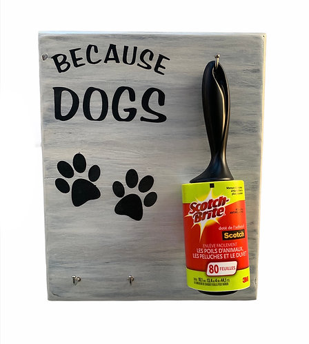 Wood Sign - Because Dogs