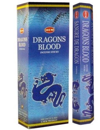 Dragons Blood Incense Sticks - Hex 20 pack