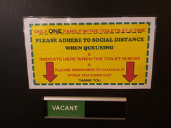 Rules for the toilets