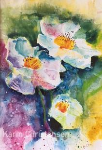 Flowers in ink