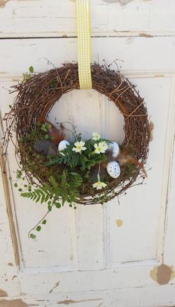 Rattan Spring Wreath