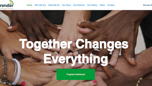 A new website design to showcase amazing charity work by Aprender UK