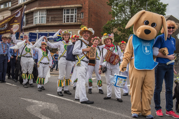 Morris Dancers & Guide Dog for the Blind
