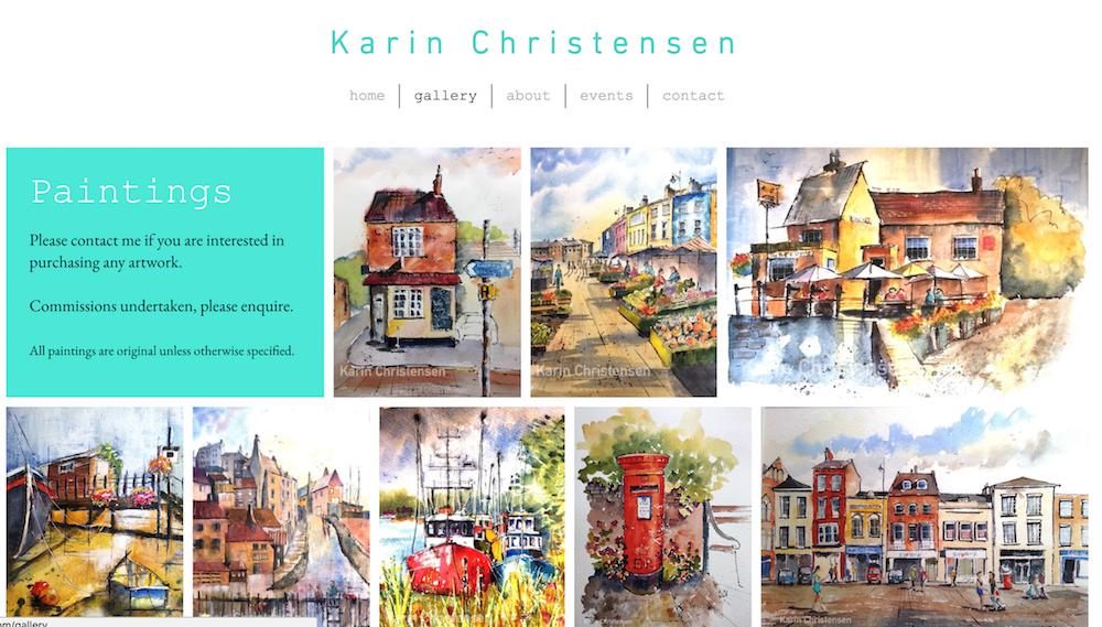 Karin Christensen Website