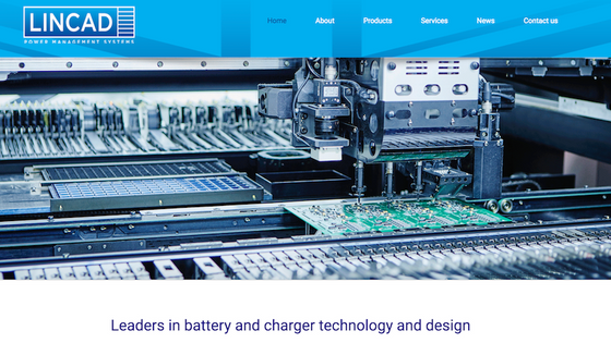 New design for Lincad Power Management Systems Website