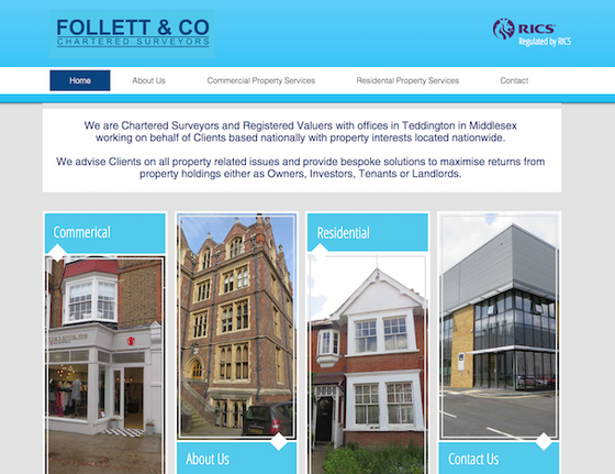 Follett & Co Chartered Surveyors - new website