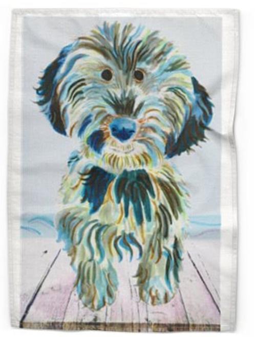 Tea Towel Zebeddee Dog