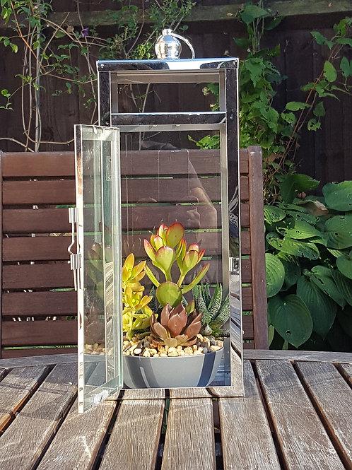 Rectangular Lantern Planter