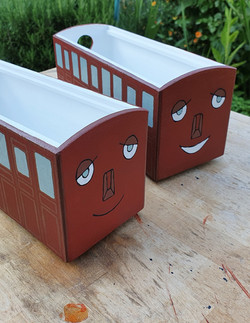Finished thomas train carriages
