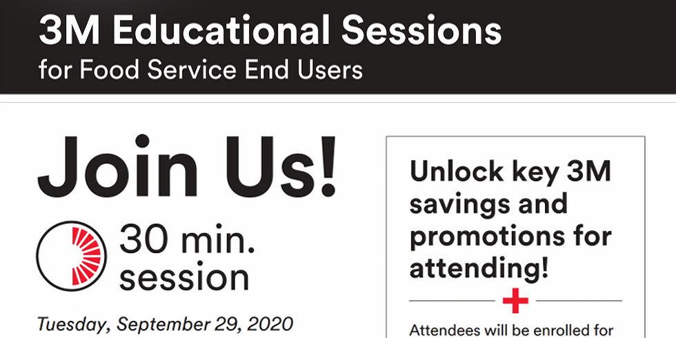 3M Educational Session for Food Service End Users - Second Session