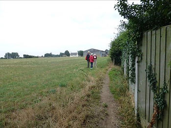 2. The footpath turns to cross the field