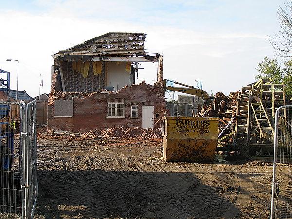 Elmside being demolished - 6 Nov 2009.jp