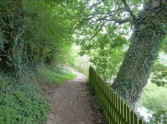 4. The footpath turns west alongside the