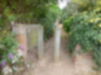 1. The footpath leaves Staithe Road at T