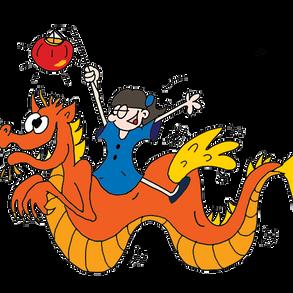 fillette et dragon volant