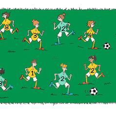 dessin jeux équipe de foot filles