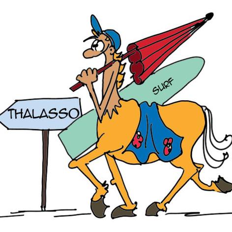 Centaure qui va à la plage
