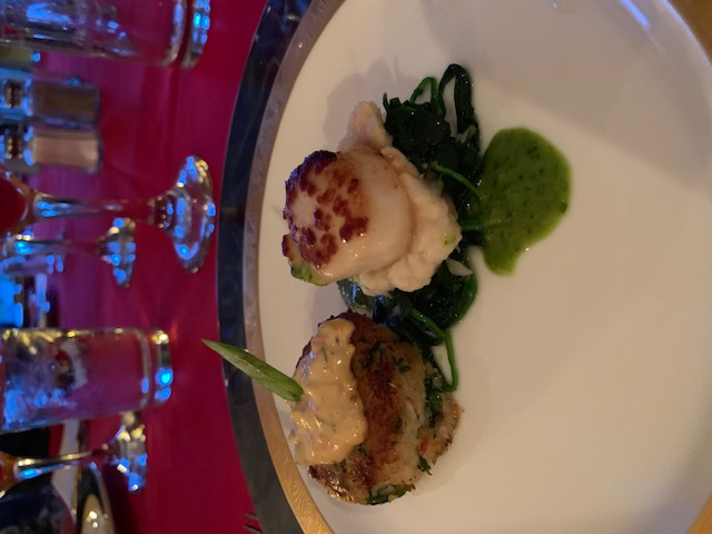 Scallop crab appetizer