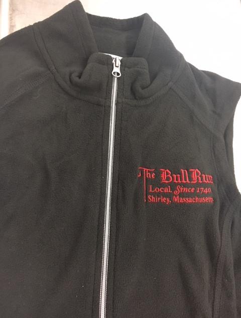 Fleece Vest with Bull Run Logo
