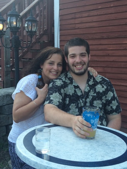Bartender Cam with his Mom at his graduation party