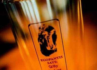 Egopantis Says Pint Glass