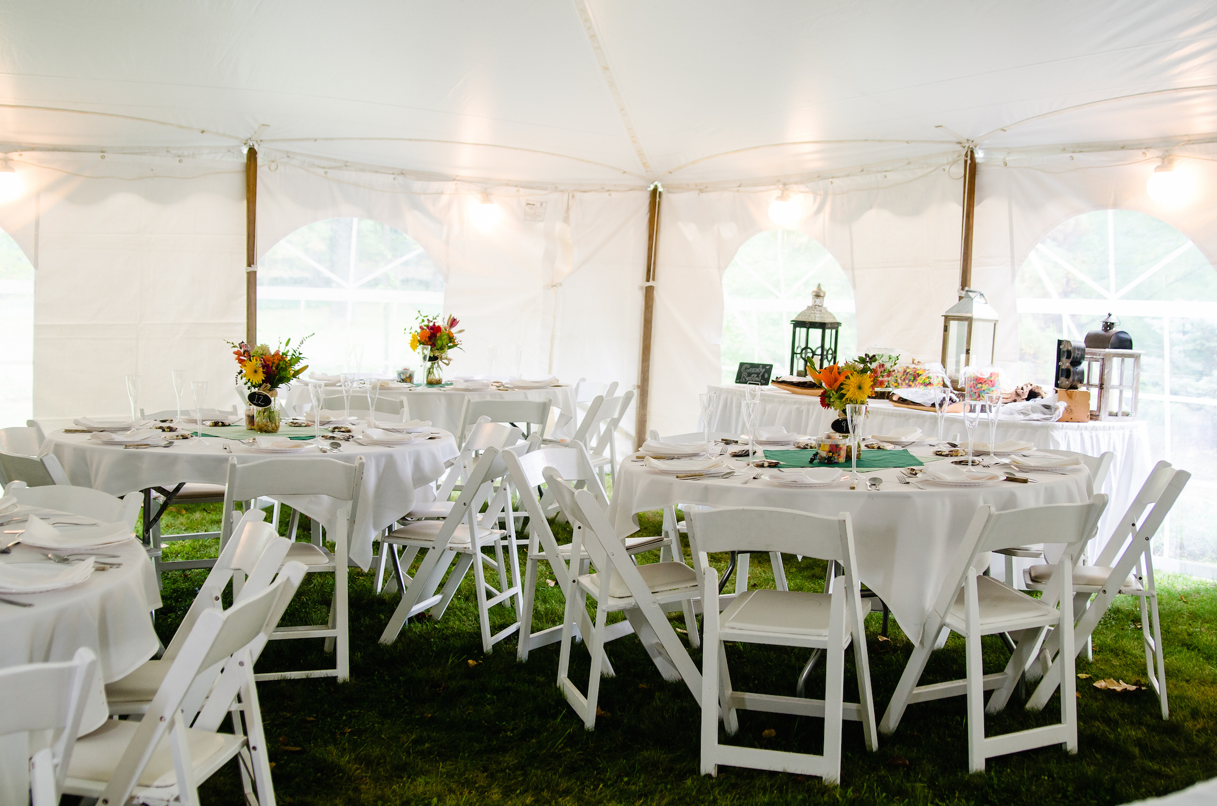 Farandnear reception tent interior