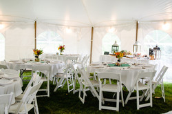 Farandnear reception tent interior