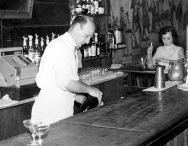 PatLattore, barkeep, 1950s