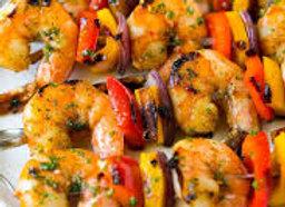 Lemon Garlic Shrimp Kebabs (4 pack)