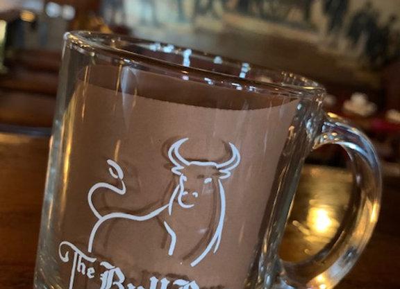 GLASS BULL RUN/UNION COFFEE ROASTER MUG
