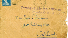 """Mystery of Letter Marked """"Damaged Air Mail Wreck"""""""
