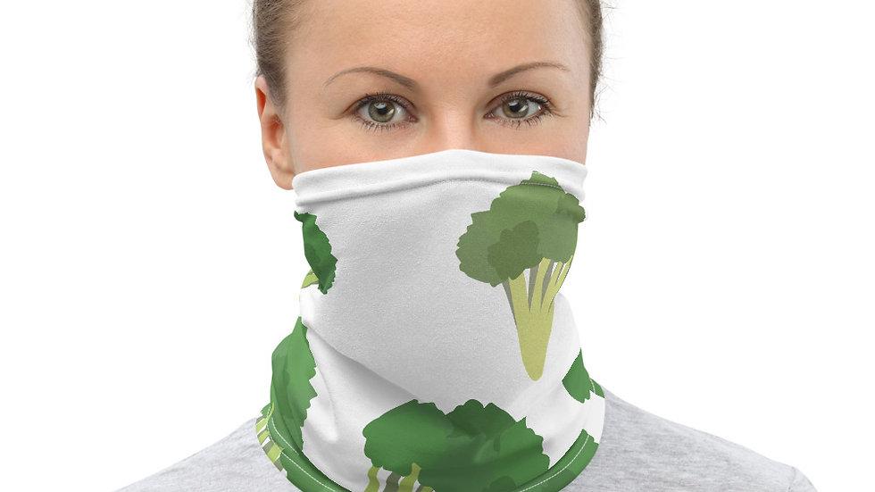 Eat Yo Greens, White Neck Gaiter