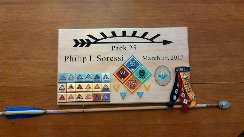 Arrow of light award plaque